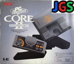 Pc engine Core Grafx 2 System with box (manual damage)