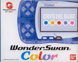 Wonder Swan Color (Crystal Blue) with manual and box